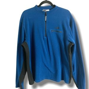 THE NORTH FACE BLUE FLEECE 1/4 ZIP MADE IN USA M